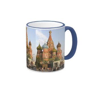 """ST.BASIL CATHEDRAL"" MOSCOW RUSSIA COFFEE MUG RINGER MUG"