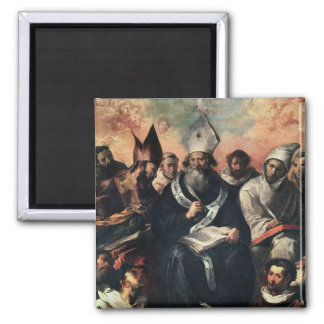 St. Basil Dictating his Doctrine 2 Inch Square Magnet