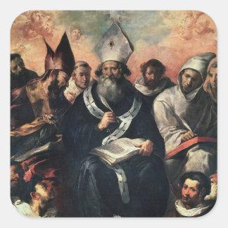 St. Basil Dictating his Doctrine Square Sticker