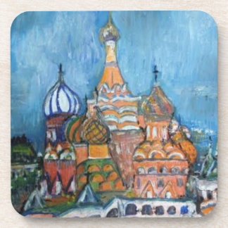 St. Basil Moscow, Russia Painting Coasters