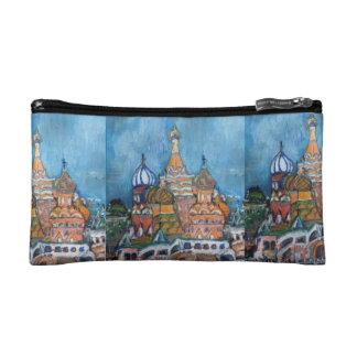 St. Basil Moscow, Russia Painting on Cosmetic Bag