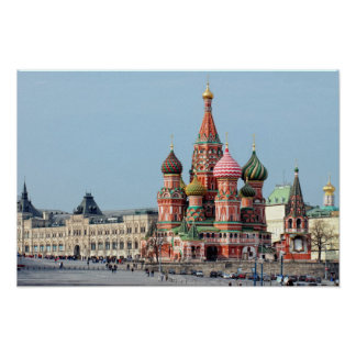St. Basil Russian cathedral on the Red Square. Mos Posters