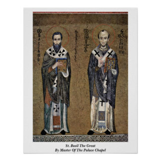 St. Basil The Great By Master Of The Palace Chapel Poster