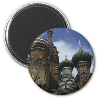 St Basil's Cathedral 2 Inch Round Magnet