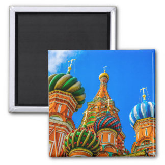 St. Basil's cathedral 2 Inch Square Magnet