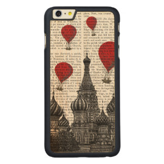 St Basil's Cathedral and Red Hot Air Balloons Carved Maple iPhone 6 Plus Case