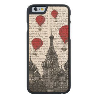 St Basil's Cathedral and Red Hot Air Balloons Carved Maple iPhone 6 Slim Case