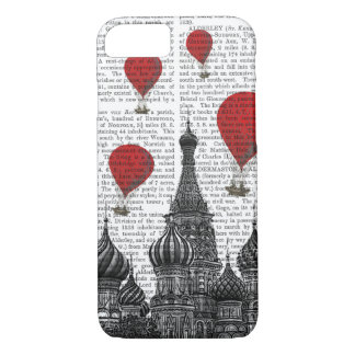 St Basil's Cathedral and Red Hot Air Balloons iPhone 8/7 Case