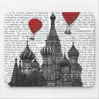 St Basil's Cathedral and Red Hot Air Balloons Mouse Pad