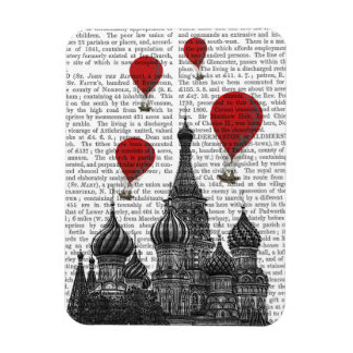St Basil's Cathedral and Red Hot Air Balloons Rectangular Photo Magnet