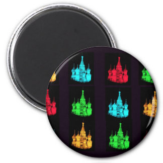 St. Basil's Cathedral Collage 2 Inch Round Magnet