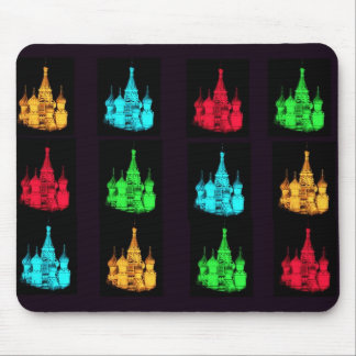 St. Basil's Cathedral Collage Mouse Pad