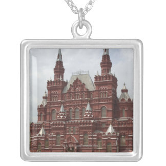 St. Basils Cathedral in Red Square, Kremlin, Silver Plated Necklace