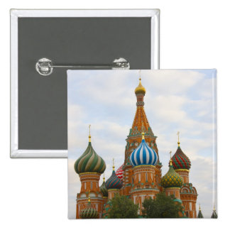 St. Basil's Cathedral in Red Square, Moscow Pinback Button
