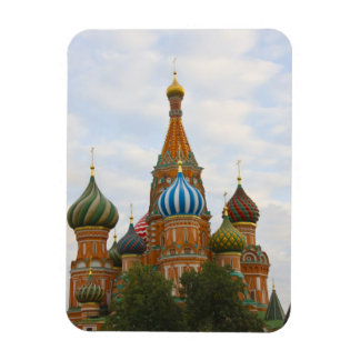 St. Basil's Cathedral in Red Square, Moscow Rectangular Photo Magnet