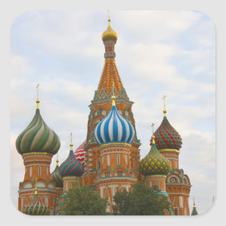 St. Basil's Cathedral in Red Square, Moscow Square Sticker