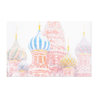 St Basil's Cathedral In Snowstorm Canvas Print
