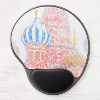 St Basil's Cathedral In Snowstorm Gel Mouse Pad