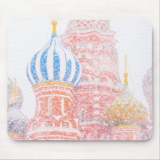 St Basil's Cathedral In Snowstorm Mouse Pad