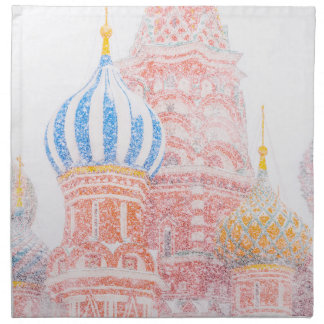 St Basil's Cathedral In Snowstorm Napkin