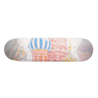 St Basil's Cathedral In Snowstorm Skateboard Deck