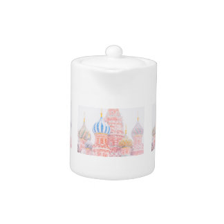 St Basil's Cathedral In Snowstorm Teapot