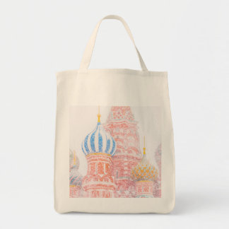 St Basil's Cathedral In Snowstorm Tote Bag