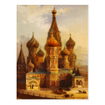 St. Basil's Cathedral, Moscow, Russia. Postcard