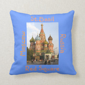 """St.Basil's Cathedral, Red Square, Moscow """"domes"""" Throw Pillow"""