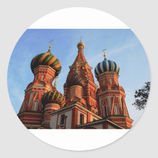 St Basils Cathedral Russia Classic Round Sticker
