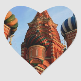 St Basils Cathedral Russia Heart Sticker