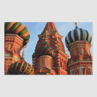 St Basils Cathedral Russia Rectangular Sticker