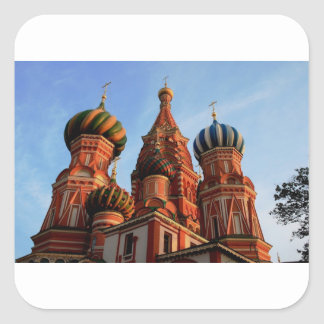 St Basils Cathedral Russia Square Sticker