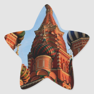 St Basils Cathedral Russia Star Sticker