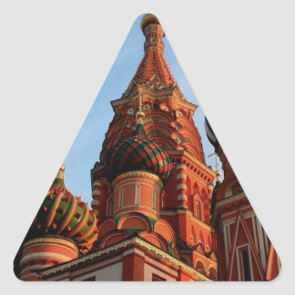 St Basils Cathedral Russia Triangle Sticker