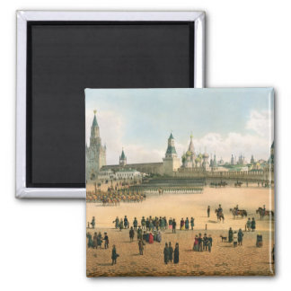 St. Basil's Cathedral seen from the Kremlin, from 2 Inch Square Magnet