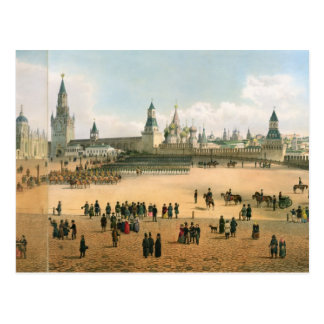 St. Basil's Cathedral seen from the Kremlin, from Postcard