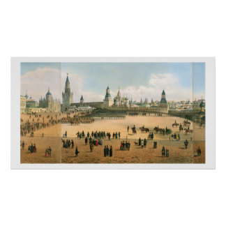 St. Basil's Cathedral seen from the Kremlin, from Poster