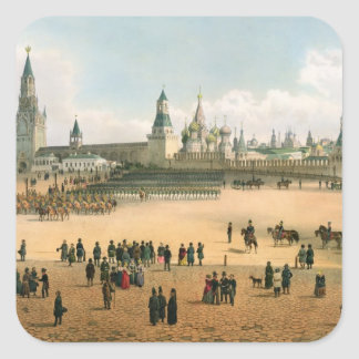 St. Basil's Cathedral seen from the Kremlin, from Square Sticker