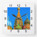St. Basil's cathedral Square Wall Clock