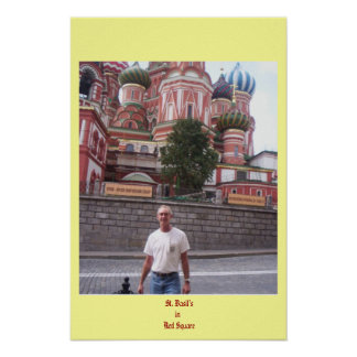 St. Basil's in Red Square Poster