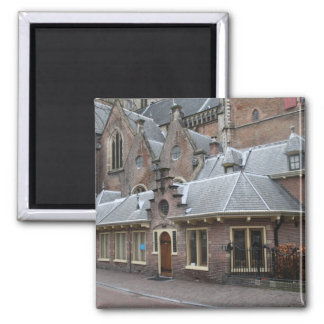 St Bavo Church, Haarlem 2 Inch Square Magnet