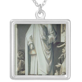 St. Bavo, Exterior of the Right Wing Square Pendant Necklace