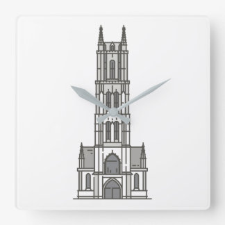 St Bavo's Cathedral Ghent World landmarks Square Wall Clock