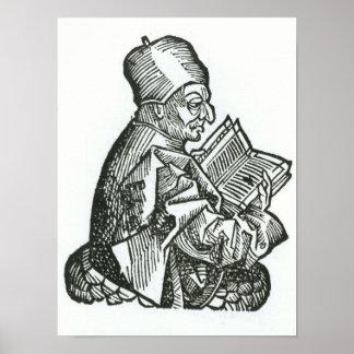 St. Bede de 'Liber Chronicarum Póster