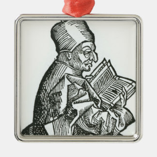 St. Bede  from 'Liber Chronicarum' Metal Ornament