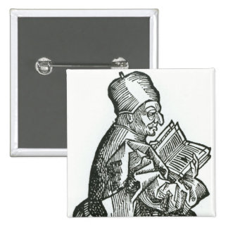 St. Bede  from 'Liber Chronicarum' Pinback Button
