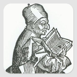 St. Bede  from 'Liber Chronicarum' Square Sticker