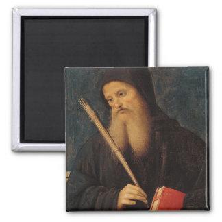 St. Benedict 2 Inch Square Magnet