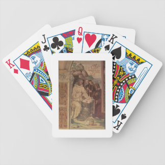 St. Benedict against a  Landscape, from the Life o Bicycle Card Deck